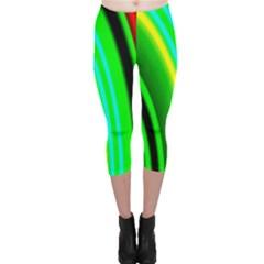 Multi Colorful Radiant Background Capri Leggings
