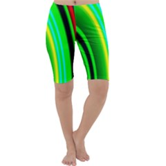 Multi Colorful Radiant Background Cropped Leggings