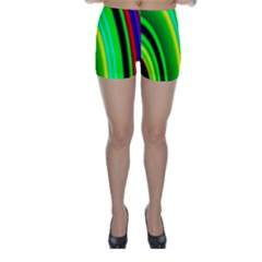 Multi Colorful Radiant Background Skinny Shorts