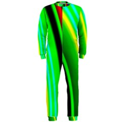 Multi Colorful Radiant Background OnePiece Jumpsuit (Men)