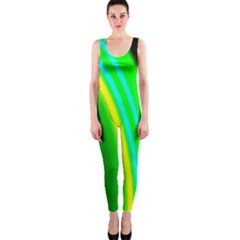 Multi Colorful Radiant Background Onepiece Catsuit