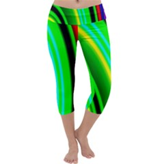 Multi Colorful Radiant Background Capri Yoga Leggings