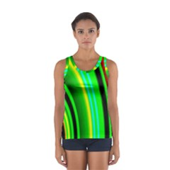 Multi Colorful Radiant Background Women s Sport Tank Top