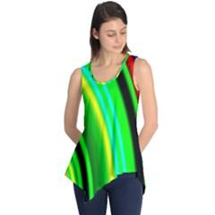 Multi Colorful Radiant Background Sleeveless Tunic