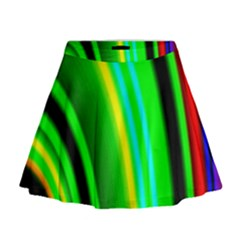 Multi Colorful Radiant Background Mini Flare Skirt