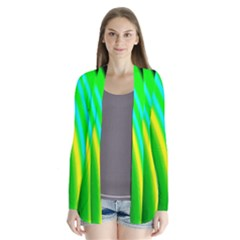 Multi Colorful Radiant Background Cardigans