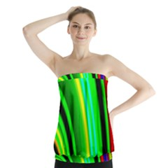 Multi Colorful Radiant Background Strapless Top