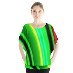 Multi Colorful Radiant Background Blouse