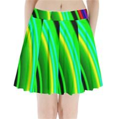 Multi Colorful Radiant Background Pleated Mini Skirt
