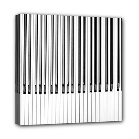 Abstract Piano Keys Background Mini Canvas 8  x 8