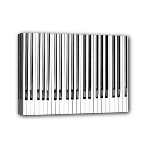 Abstract Piano Keys Background Mini Canvas 7  x 5