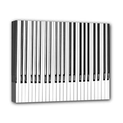 Abstract Piano Keys Background Canvas 10  X 8