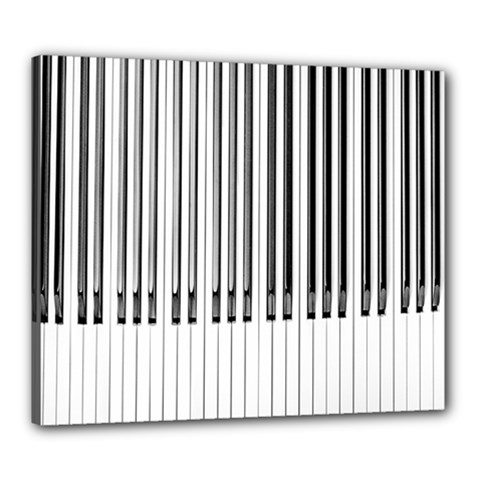 Abstract Piano Keys Background Canvas 24  x 20