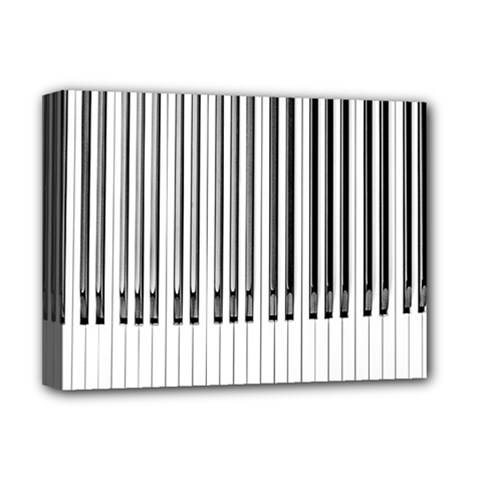 Abstract Piano Keys Background Deluxe Canvas 16  x 12