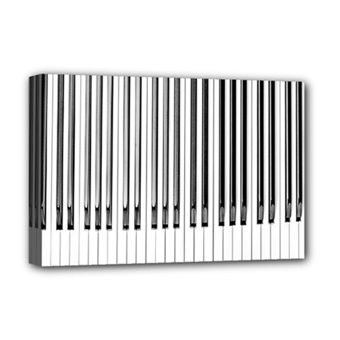 Abstract Piano Keys Background Deluxe Canvas 18  x 12