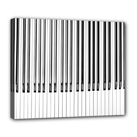 Abstract Piano Keys Background Deluxe Canvas 24  x 20