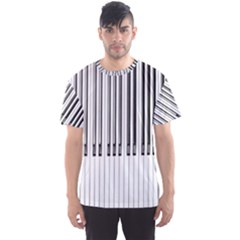 Abstract Piano Keys Background Men s Sport Mesh Tee