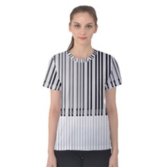 Abstract Piano Keys Background Women s Cotton Tee