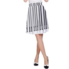 Abstract Piano Keys Background A Line Skirt