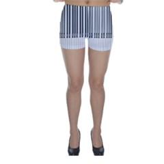 Abstract Piano Keys Background Skinny Shorts