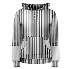 Abstract Piano Keys Background Women s Pullover Hoodie