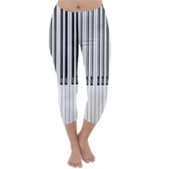 Abstract Piano Keys Background Capri Winter Leggings