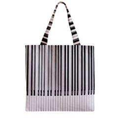 Abstract Piano Keys Background Zipper Grocery Tote Bag