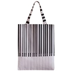 Abstract Piano Keys Background Zipper Classic Tote Bag