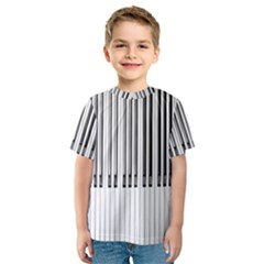 Abstract Piano Keys Background Kids  Sport Mesh Tee