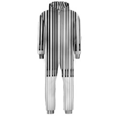 Abstract Piano Keys Background Hooded Jumpsuit (Men)