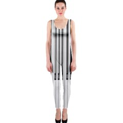 Abstract Piano Keys Background OnePiece Catsuit
