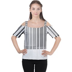 Abstract Piano Keys Background Women s Cutout Shoulder Tee