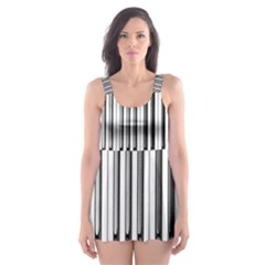 Abstract Piano Keys Background Skater Dress Swimsuit