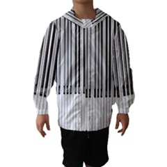 Abstract Piano Keys Background Hooded Wind Breaker (Kids)
