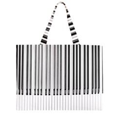 Abstract Piano Keys Background Zipper Large Tote Bag