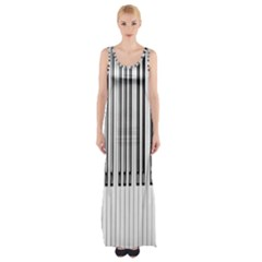Abstract Piano Keys Background Maxi Thigh Split Dress