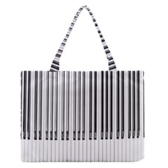 Abstract Piano Keys Background Medium Zipper Tote Bag