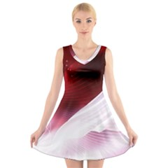 Dreamworld Studio 2d Illustration Of Beautiful Studio Setting V Neck Sleeveless Skater Dress