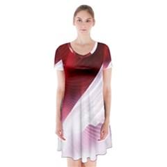 Dreamworld Studio 2d Illustration Of Beautiful Studio Setting Short Sleeve V-neck Flare Dress