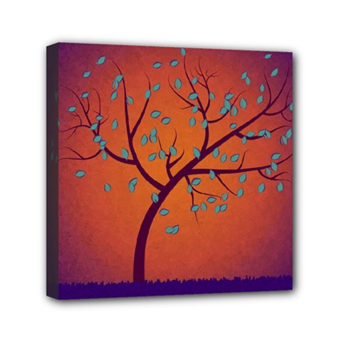 Beautiful Tree Background Mini Canvas 6  X 6