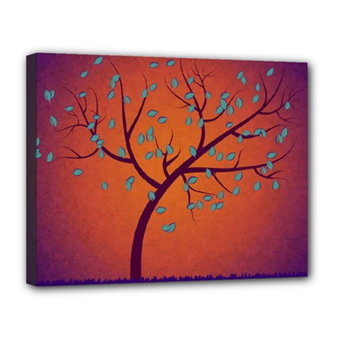 Beautiful Tree Background Canvas 14  X 11
