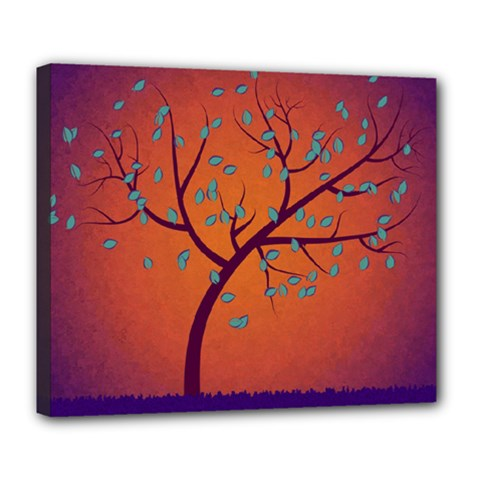 Beautiful Tree Background Deluxe Canvas 24  x 20