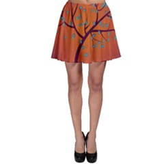 Beautiful Tree Background Skater Skirt