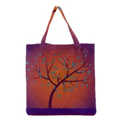 Beautiful Tree Background Grocery Tote Bag