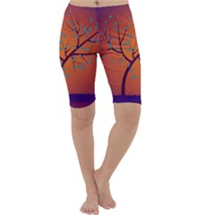 Beautiful Tree Background Cropped Leggings