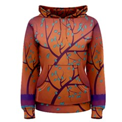 Beautiful Tree Background Women s Pullover Hoodie