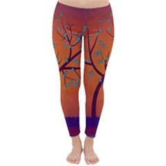 Beautiful Tree Background Classic Winter Leggings