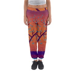 Beautiful Tree Background Women s Jogger Sweatpants
