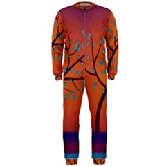 Beautiful Tree Background Onepiece Jumpsuit (men)