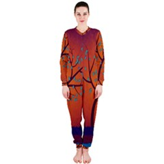 Beautiful Tree Background Onepiece Jumpsuit (ladies)